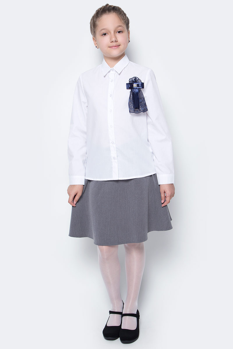 Рубашка для девочки Nota Bene, цвет: белый. CWR27022B01. Размер 146 платье tutto bene tutto bene tu009ewzwn18
