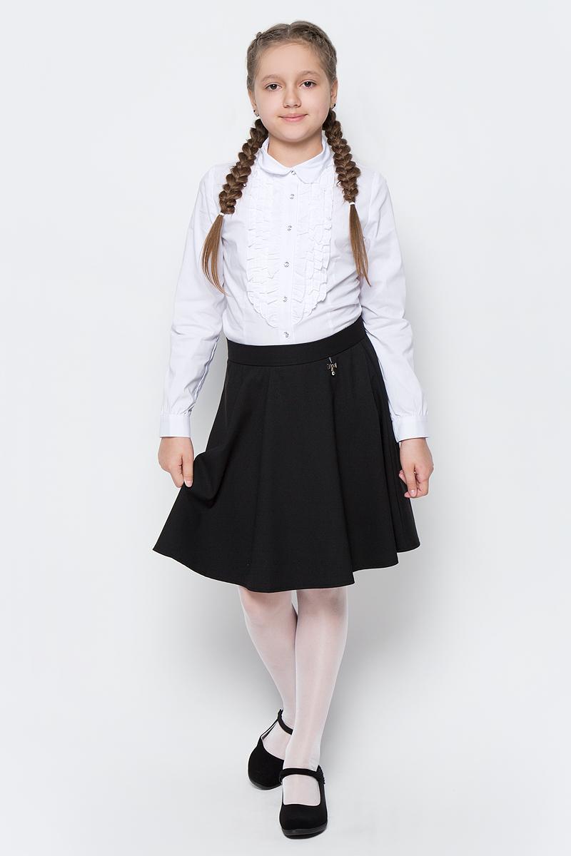 Юбка для девочки Nota Bene, цвет: черный. CWA27002B21. Размер 146CWA27002B21/CWA27002A21Стильная юбка для девочки от Nota Bene выполнена из вискозы и полиэстера с добавлением лайкры. Модель застегивается на застежку-молнию.