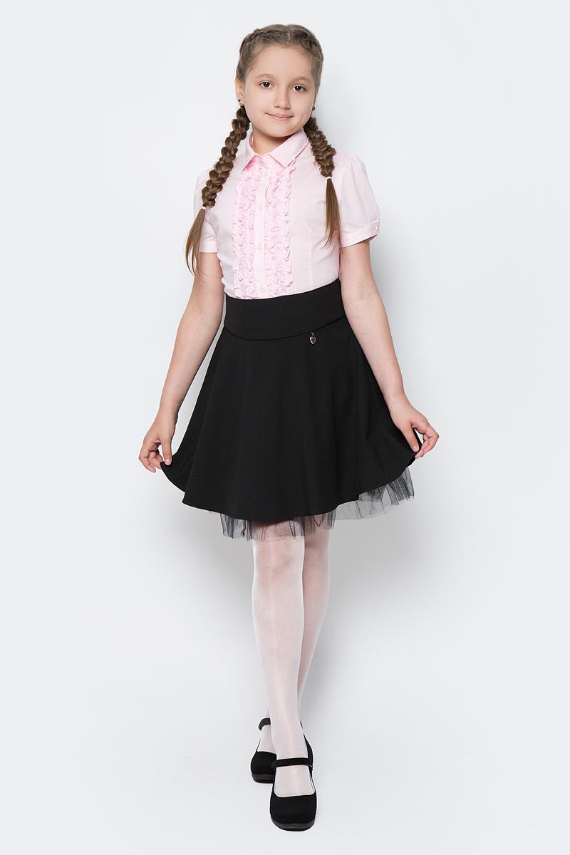 Юбка для девочки Nota Bene, цвет: черный. CWA27004A21. Размер 122CWA27004B21/CWA27004A21Стильная юбка для девочки от Nota Bene выполнена из вискозы и полиэстера с добавлением лайкры. Модель стандартной посадки застегивается на застежку-молнию.