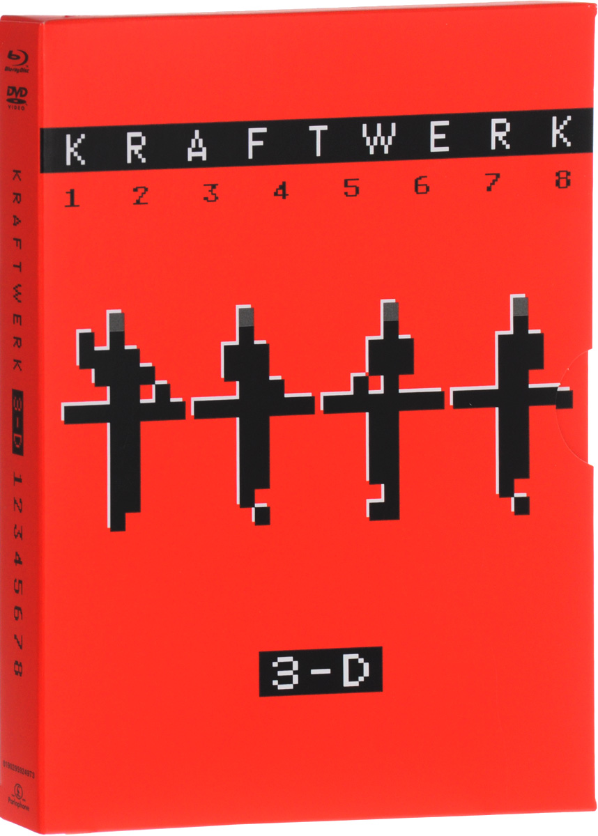 Kraftwerk: 3-D (DVD + 3D Blu-ray) виниловая пластинка kraftwerk 3 d the catalogue box set 180 gram
