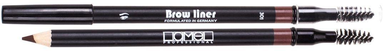 Lamel Professional Карандаш для бровей со щеточкой 301, 1,7 г5060449180720Карандаш для бровей Lamel – невероятно мягкий карандаш, который не царапает кожу. Бархатная нежная текстура ровно ложится, легко растушевывается, обладает стойкостью и дарит бровям глубокий естественный цвет и выразительность. Интенсивность оттенка зависит от силы нажатия, поэтому карандаш подойдет для создания любого образа. А профессиональная щеточка создает идеальную форму бровей.Как создать идеальные брови: пошаговая инструкция. Статья OZON Гид