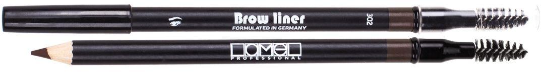 Lamel Professional Карандаш для бровей со щеточкой 302, 1,7 г5060449180737Карандаш для бровей Lamel – невероятно мягкий карандаш, который не царапает кожу. Бархатная нежная текстура ровно ложится, легко растушевывается, обладает стойкостью и дарит бровям глубокий естественный цвет и выразительность. Интенсивность оттенка зависит от силы нажатия, поэтому карандаш подойдет для создания любого образа. А профессиональная щеточка создает идеальную форму бровей.
