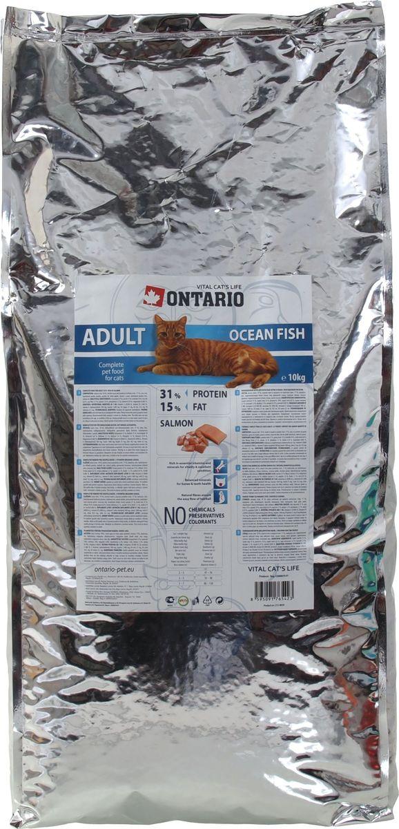 Корм сухой Ontario Adult для взрослых кошек, с морской рыбой, 10 кг20779Полнорационный сухой корм для кошек Ontario Adult изготовлен из высококачественных ингредиентов с высоким содержанием рыбы. Технология производства корма позволяет сохранить все витамины и полезные вещества. Высокое содержание рыбы и мяса гарантирует получение животным необходимого количества питательных веществ и обеспечивает высокое содержание белка в корме. Пивные дрожжи содержат витамины группы В и ферменты, способствуют росту полезных бактерий в кишечнике, улучшают состояние кожи и шерсти животных.Лососевый жир богат незаменимыми жирными кислотами Омега-3, оказывающими благотворное влияние на все органы и системы организма, особенно на шерсть животных. Употребление незаменимых жирных кислот также способствует профилактике заболеваний сердца. Яблоки богаты клетчаткой (пектином), способствующей пищеварению и выводящей токсины из кишечника, а также являются источником витаминов и антиоксидантов.Состав: лосось (минимум 18%), курица и ее производные (минимум 17%), маис, рис, гидролизованный белок домашней птицы, жир домашней птицы, сушеные яблоки, пивные дрожжи, гидролизованная печень домашней птицы, лососевый жир.Гарантированный анализ: белок 31%, жир 15%, влага 10%, зола 6,8%, клетчатка 2,1%, кальций 1,4%, фосфор 1,1%, натрий 0,19%, магний 0,085%.Добавки: витамин A 20,000 IU, витамин D3 2,000 IU, витамин E (альфатокоферол) 500 мг, таурин 1,400 мг, E4 медь 21 мг, E6 цинк 10.5 мг, E8 селен 0.3 мг. Товар сертифицирован.