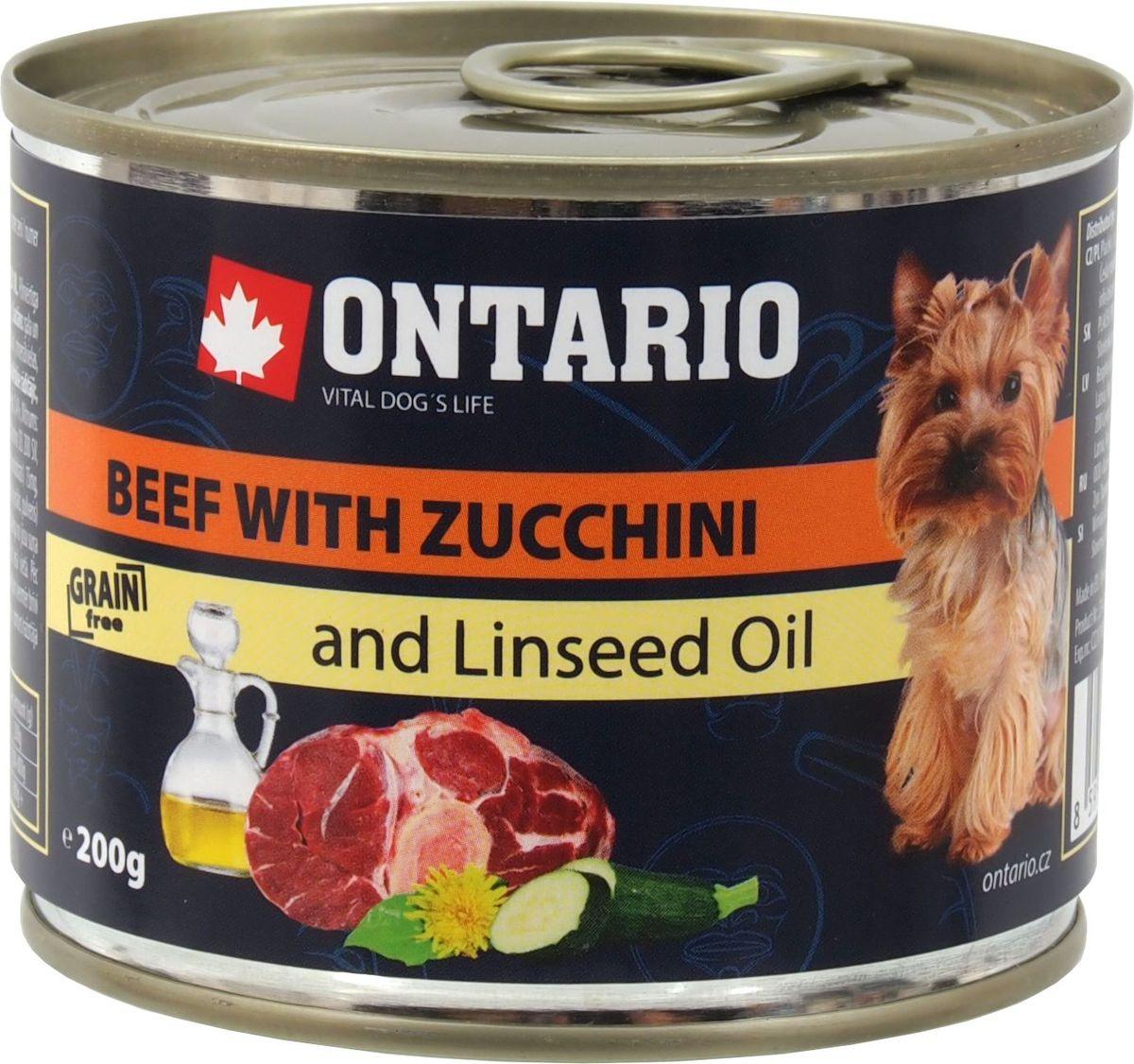 Консервы Ontario Mini для собак мелких пород, с говядиной и цуккини, 200 г46638Консервы Ontario Mini - это полнорационный корм для собак мелких пород. Для этих консервов отобраны только самые лучшие ингредиенты, чтобы порадовать вашего пушистого гурмана. При изготовлении консервов используется только отборное мясо и натуральный мясной бульон, а также витамины и минералы для поддержания здоровья питомца. Льняное масло известно своими противовоспалительными свойствами, оказывает положительное влияние на функцию сердца и почек, улучшает обмен веществ и укрепляет иммунитет, способствует усвоению витаминов. Одуванчик богат витаминами и микроэлементами, содержит жирные масла и органические кислоты, а также такие вещества, как тараксацин и тараксацерин, способствующие пищеварению.Состав: 65% мясо и его производные (из которых 30% говядина), бульон (28,3%), овощи (5% цуккини), 1% минералы, масла и жиры (0,5% льняное масло), травы (0,2% одуванчик).Гарантированный анализ: белок 10%, жир 6,5%, зола 2,4%, клетчатка 0,4%, влага 75%.Добавки: Витамин D3 200 МЕ, Витамин E, all rac-альфа токоферол ацетат 30 мг, Моногидрат сульфата цинка 15 мг, Сульфат марганца II моногидрат 3 мг, Йодат кальция безводного 0,75 мг.Товар сертифицирован.