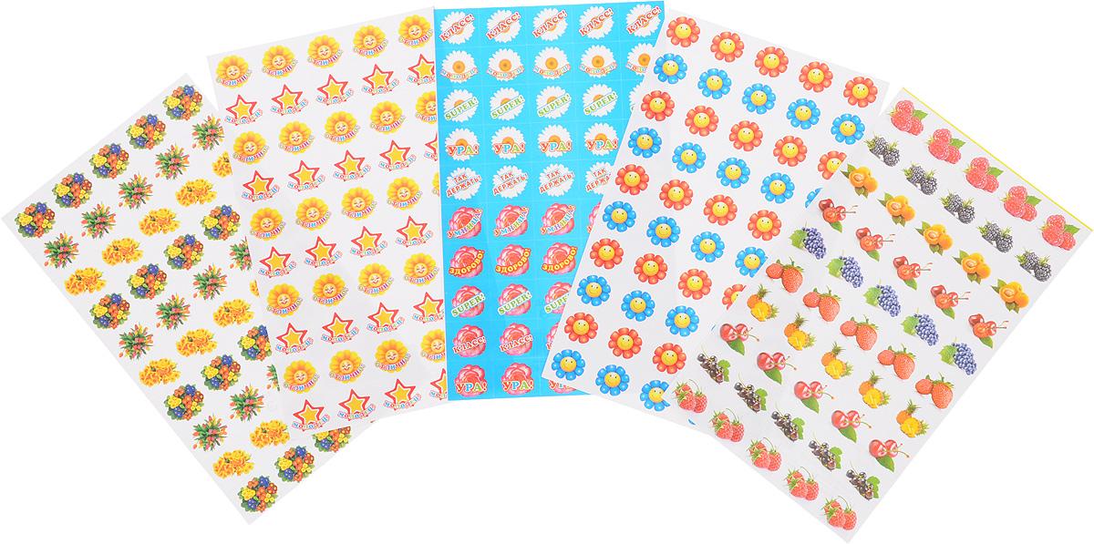 Комплект наклеек для поощрения девочек
