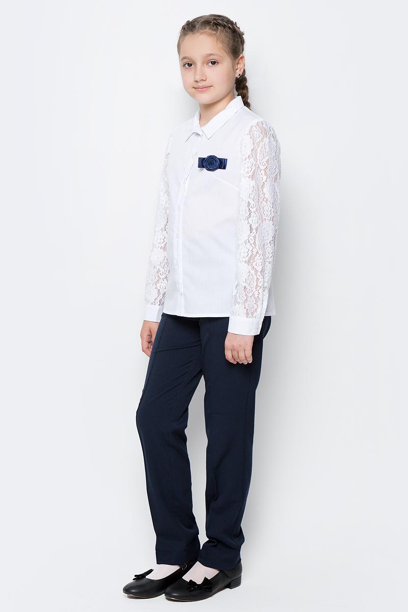 Блузка для девочки Nota Bene, цвет: белый. CWR27019A01. Размер 122 платье tutto bene tutto bene tu009ewzwn18