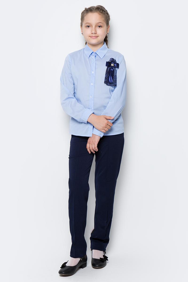 Рубашка для девочки Nota Bene, цвет: голубой. CWR27022B10. Размер 164 cute rabbit cartoon stereo earphone