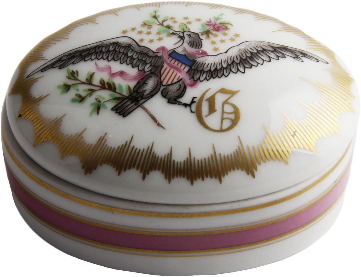 Шкатулка Орел свободы. Фарфор, роспись, деколь. Limoges, Франция, вторая половина XX века louane limoges