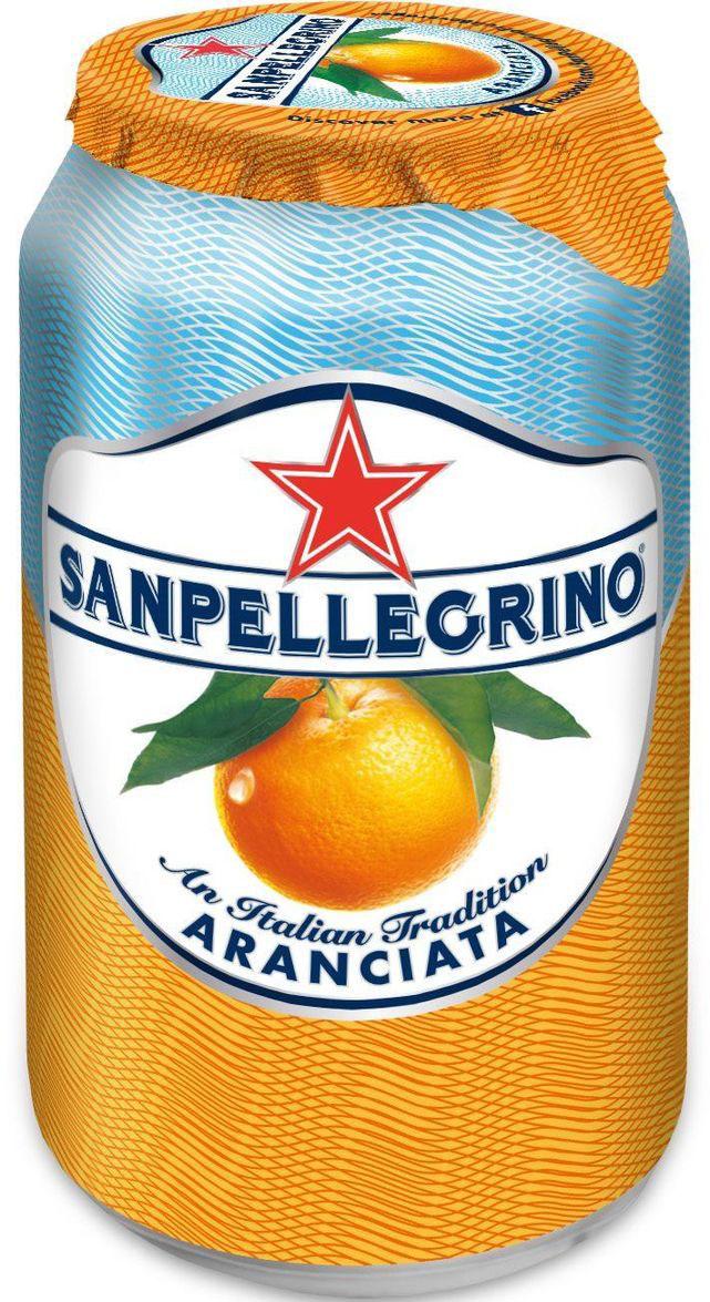 San Pellegrino Напиток сокосодержащий со вкусом апельсина, 0,33 лNST-12228285Фруктовый напиток San Pellegrino - знаменитый во всем мире освежающий газированный напиток с соком фруктов, производится с 1930-х годов в Италии. Напиток содержит натуральный сок сочных и спелых сицилийских фруктов, собранных вручную, а низкое содержание углеводов и сахара делает напиток San Pellegrino доступным даже для тех, кто придерживается диеты. Основой для создания напитка служит минеральная вода, баланс между нежными пузырьками иароматом придает напитку неповторимый вкус. Фруктовые напитки San Pellegrino отлично утоляют жажду и являются прекрасным дополнением кежедневным трапезам. Состав: вода, восстановленный апельсиновый сок (20%), сахар, двуокись углерода, регулятор кислотности (лимонная кислота), натуральные ароматизаторы. Согретые теплым итальянским солнцем фрукты дарят вам всю свою свежесть и аромат круглый год! 100% натуральные ингредиентыФрукты с острова СицилияОснова – минеральная водаСодержание сока – 20%, выше минимальной нормы, и чем у большинства конкурентовПониженное содержание сахараНатуральный вкус и аромат.