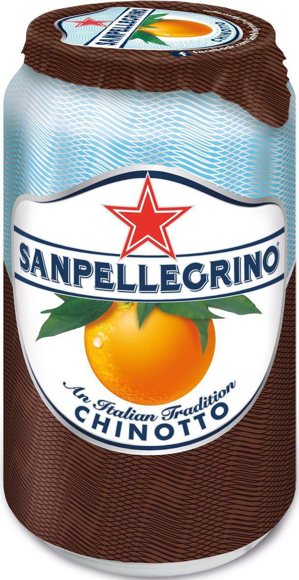 San Pellegrino Напиток сокосодержащий со вкусом померанца, 0,33 лNST-12283509Фруктовый напиток San Pellegrino - знаменитый во всем мире освежающий газированный напиток с соком фруктов, производится с 1930-х годов в Италии. Напиток содержит натуральный сок сочных и спелых сицилийских фруктов, собранных вручную, а низкое содержание углеводов и сахара делает напиток San Pellegrino доступным даже для тех, кто придерживается диеты. Основой для создания напитка служит минеральная вода, баланс между нежными пузырьками иароматом придает напитку неповторимый вкус. Фруктовые напитки San Pellegrino отлично утоляют жажду и являются прекрасным дополнением кежедневным трапезам. Согретые теплым итальянским солнцем фрукты дарят вам всю свою свежесть и аромат круглый год! 100% натуральные ингредиентыФрукты с острова СицилияОснова – минеральная водаСодержание сока – 16%, выше минимальной нормы, и чем у большинства конкурентовБез красителей иароматизаторовПониженное содержание сахараНатуральный вкус и аромат.