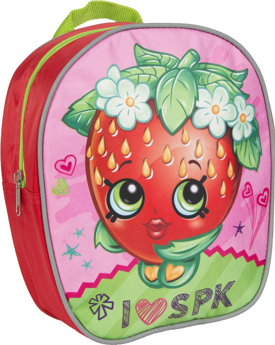 Shopkins Рюкзак дошкольный Шопкинс цвет красный аксессуар
