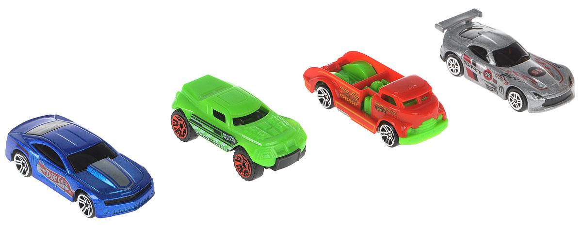 Big Motors Набор машинок Супер машинки цвет синий серый зеленый красный 4 шт big песочница ракушка big sand из 2 частей цвет синий