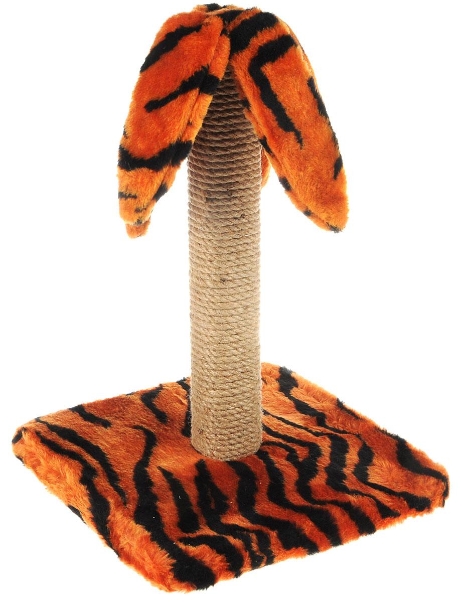 Когтеточка Меридиан Пальма, на подставке, цвет: оранжевый, черный, бежевый, высота 45 см0120710Когтеточка Меридиан Пальма поможет сохранитьмебель и ковры в доме от когтейвашего любимца, стремящегося удовлетворитьсвою естественнуюпотребность точить когти. Когтеточка изготовлена из дерева, искусственного меха и джута. Она имеет оригинальный дизайн в виде пальмы.Товар продуман в мельчайших деталяхи, несомненно, понравится вашей кошке.Всем кошкам необходимо стачивать когти.Когтеточка - один из самыхнеобходимых аксессуаров для кошки. Дляприучения к когтеточке можнонатереть ее сухой валерьянкой или кошачьеймятой. Когтеточка поможет вашемулюбимцу стачивать когти и при этом не портитьвашу мебель. Размер основания: 31 х 31 см. Высота когтеточки: 45 см.