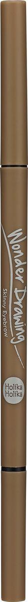 Holika Holika Карандаш для бровей Вандер Дроуинг Скинни, тон 03, светло-коричневый, 5 г,20015795Тонкий грифель карандаша позволяет придать бровям желаемую форму и прорисовать недостающие волоски. Щеточка поможет привести в порядок брови любой густоты.