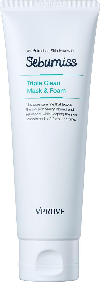 Vprove Пенка-маска для проблемной кожи Себумис, матирующая, 120 млVSBFC0001Линия разработана специально для жирной и комбинированной кожи с широкими порами. Средства освежают кожу, нормализуют гидролипидный баланс и делают рельеф более ровным, а кожу гладкой и упругой. В состав линии входит био-дермоглюкан, запатентованный брендом Vprove, он поддерживает иммунитет кожи, увлажняет ее и смягчает. Экстракт эвкалипта уменьшает сальный блеск, перилла нормализует гидролипидный баланс, а экстракт коры африканского дерева способствует сужению пор.Пенка интенсивно очищает и матирует кожу, способствует сужению пор.