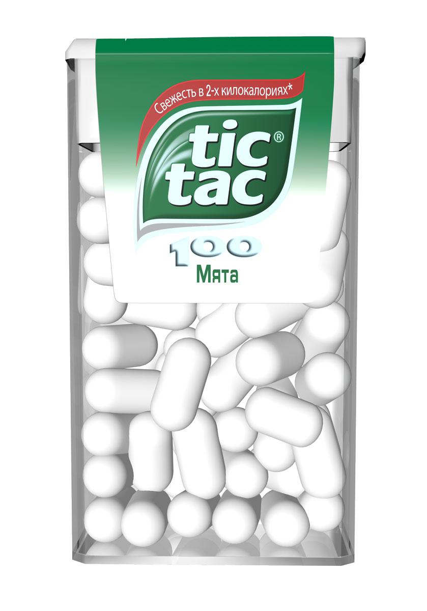 Tic Tac Мята драже, 49 г тик твистер купить