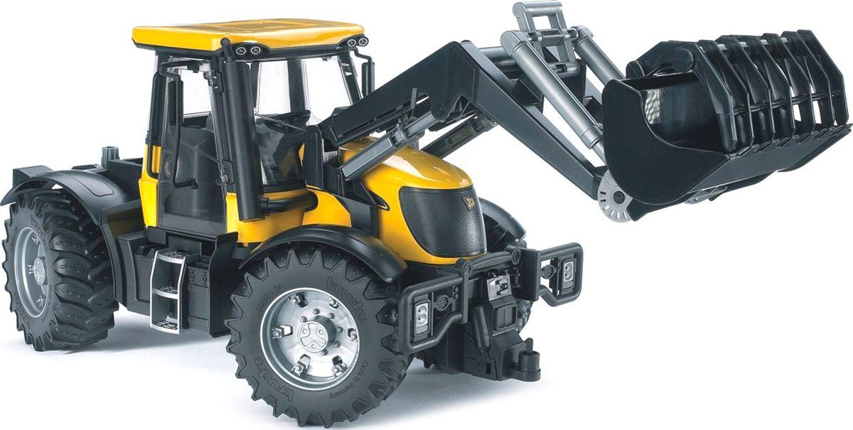 Bruder Трактор JCB Fastrac 3220 с фронтальным погрузчиком машинки tomy трактор john deere 6830 с двойными колесами и фронтальным погрузчиком