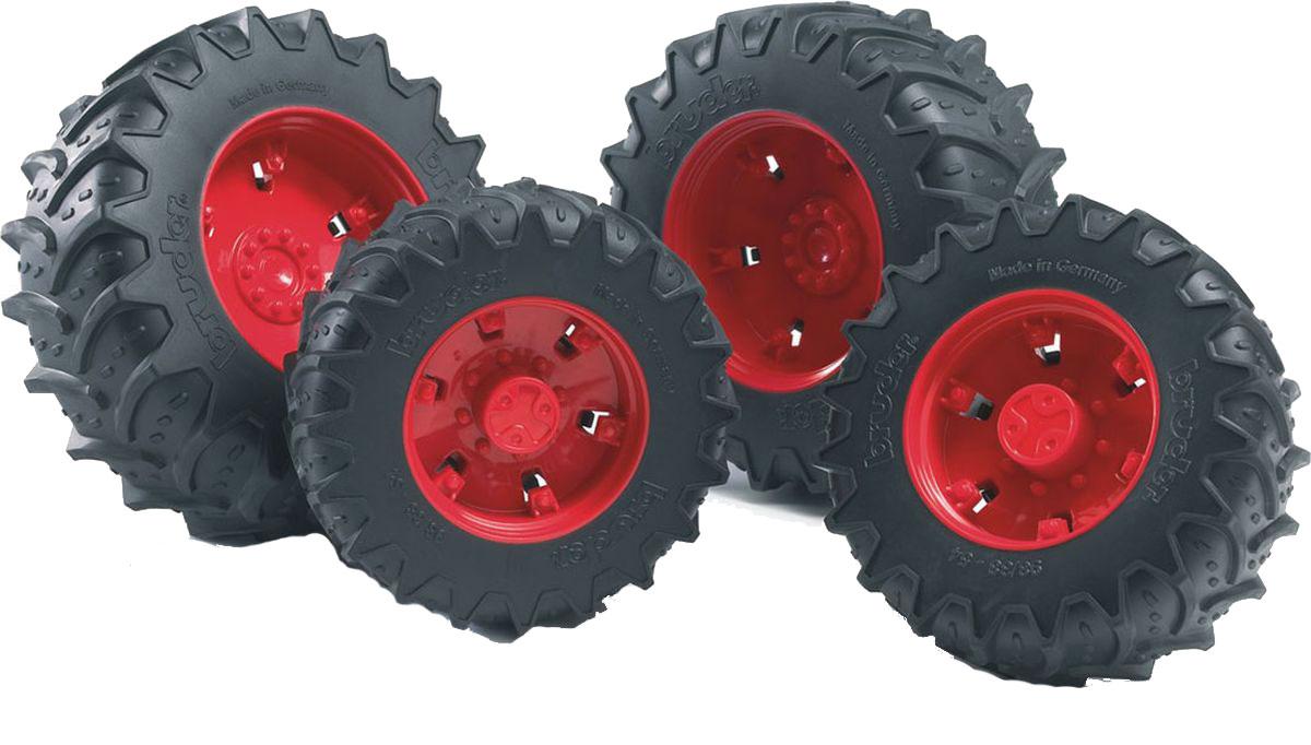 Bruder Шины для системы сдвоенных колес цвет красный 4 шт 03-303 шины для системы сдвоенных колес bruder 02 013