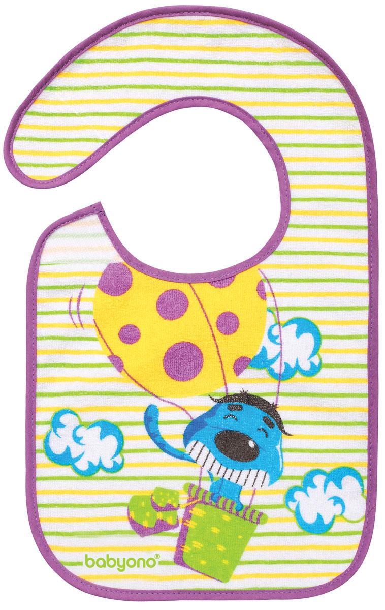BabyOno Нагрудник на липучке Собака на воздушном шаре