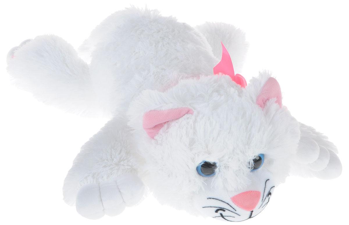 СмолТойс Мягкая игрушка Котенок цвет белый 52 см смолтойс мягкая игрушка зайка даша цвет салатовый 41 см