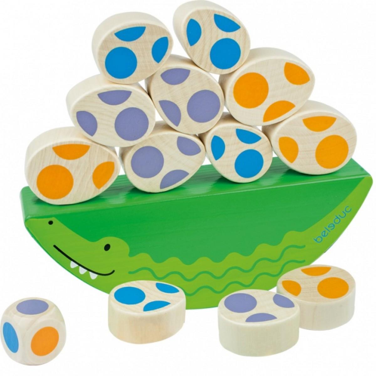 Beleduc Развивающая игрушка Веселый крокодильчик beleduc обучающая игра кухня магов xxl