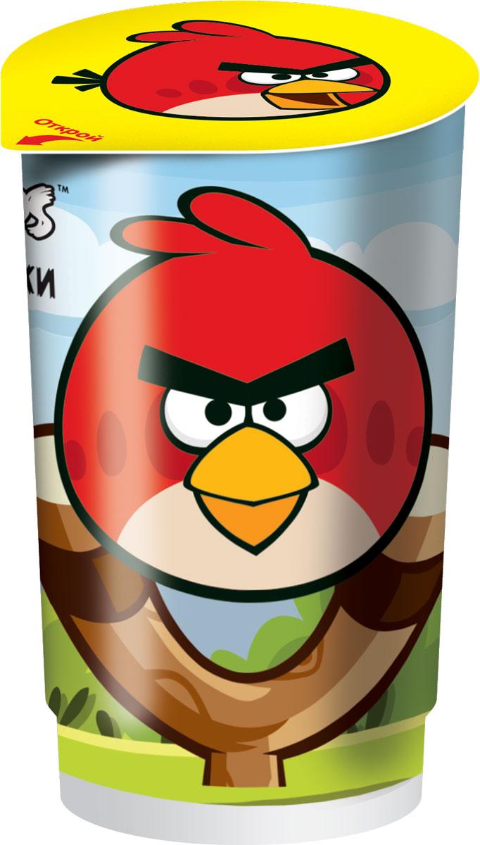 Angry Birds хлебные палочки со вкусом шоколада и с кремом в пластиковом стакане с подарком, 35 г