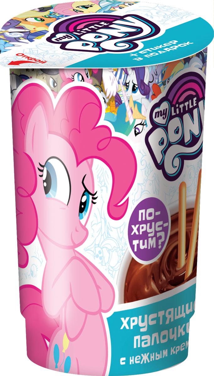 My Little Pony хлебные палочки со вкусом шоколада и с кремом в пластиковом стакане с подарком, 35 г6924762312499_LPВнутри - хлебные палочки, шоколадный крем в специальной емкости и вложение стикер из пластмассы в индивидуальном пакетике.УВАЖАЕМЫЕ КЛИЕНТЫ! Товар поставляется в цветовом ассортименте. Поставка осуществляется в зависимости от наличия на складе.