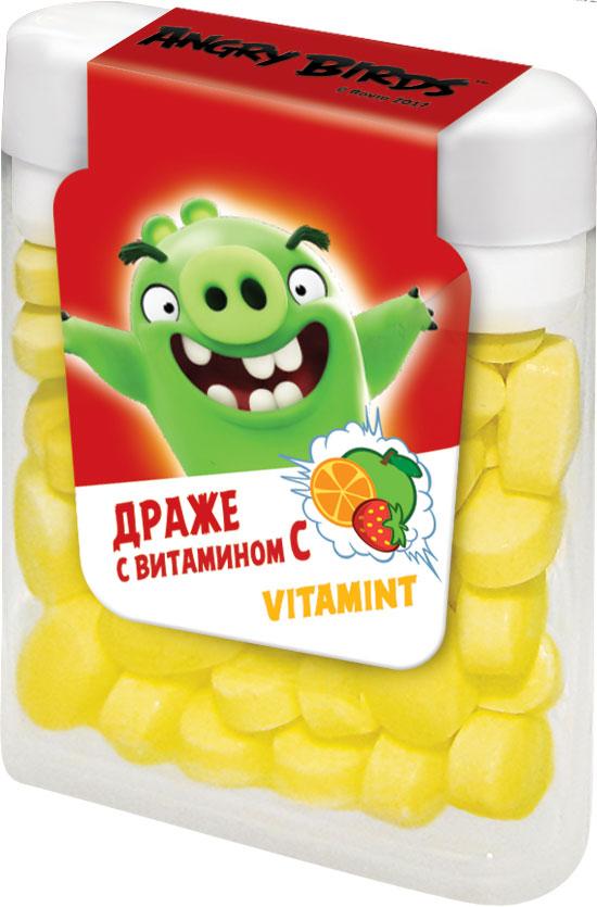 Angry Birds Movie драже ментоловые с витамином С, 14 г pediasure малоежка со вкусом клубники смесь с 12 месяцев 200 мл