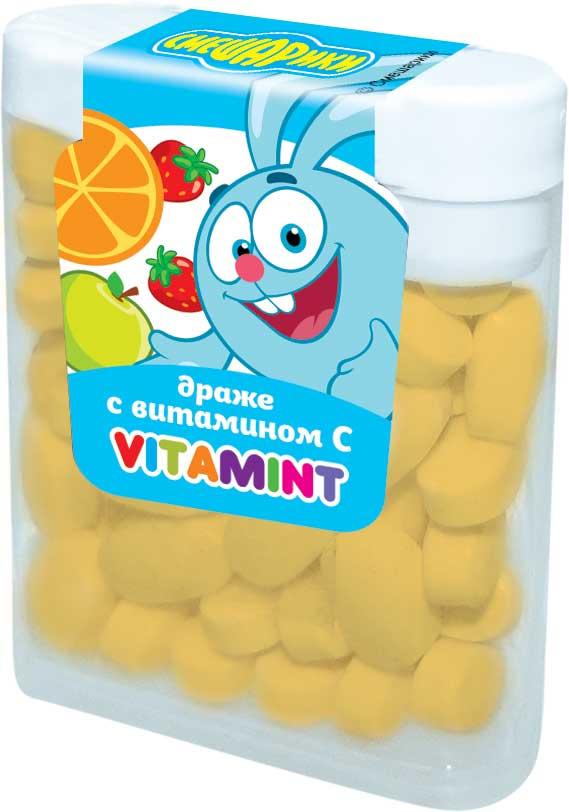 Смешарики драже ментоловые с витамином С, 14 г pediasure малоежка со вкусом клубники смесь с 12 месяцев 200 мл