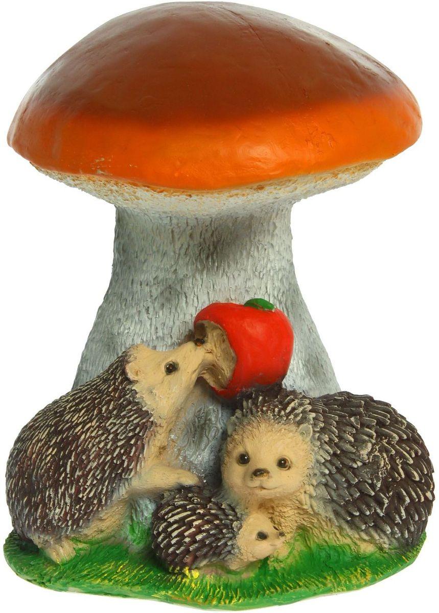 Фигура садовая Белый гриб с ежами и яблоком, 30 х 30 х 37 см фигурки садовые marquis садовая фигура гномик