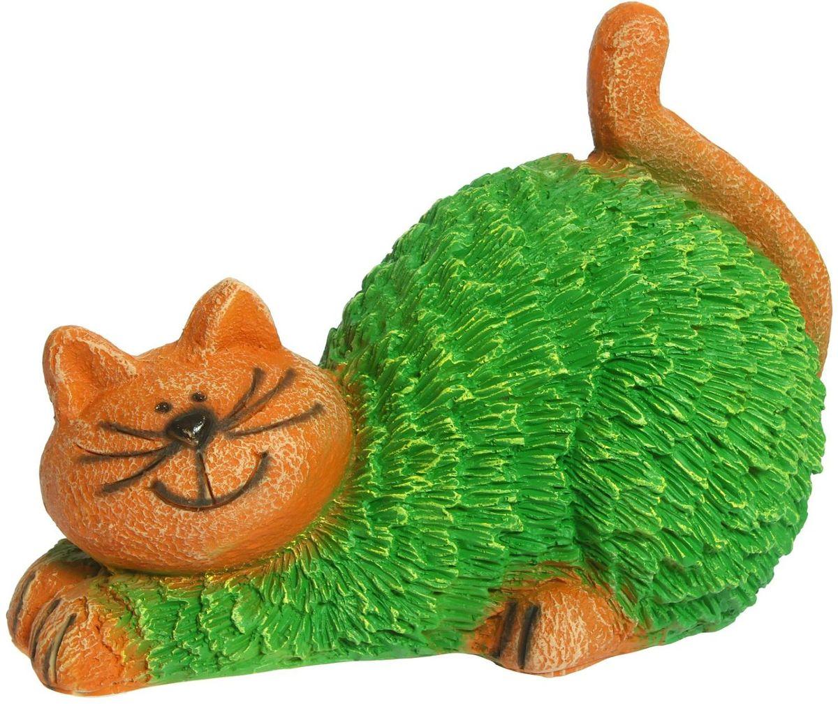 Фигура садовая Кошка, 21 х 38 х 30 см1260071Садовая фигура Кошка будет охранять урожай и приносить удачу.Садовая фигура изготовлена полистоуна. Этот материал не выцветает на солнце, даже если находится под воздействием ультрафиолета круглый год. Искусственный камень имеет очень низкую пористость, поэтому на нем не появятся трещины. Размер фигуры: 21 х 38 х 30 см.