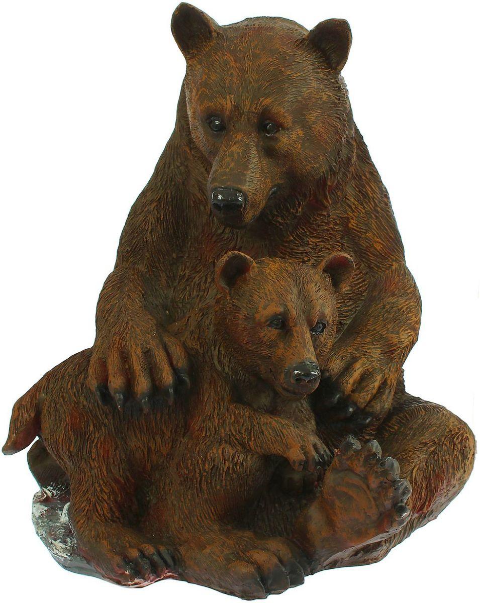 Фигура садовая Медведица с медвежонком, 36 х 37 х 44 см1260076