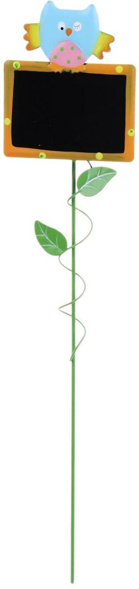 Украшение декоративное садовое Прямоугольник, цвет: черный, голубой, 7 х 33 см1262120Декоративное садовое украшение Прямоугольник, изготовлено из металла и представляет собой палочку с фигуркой совенка на прямоугольнике. Декоративная садовая фигурка внесет завершающий штрих при создании ландшафтного дизайна дачного или приусадебного участка. Она позволит создать оригинальную декорацию и почувствовать себя среди живой природы. Кроме этого, веселая и незатейливая, она поднимет настроение вам, вашим друзьям и родным. Размер: 7 х 33 см.
