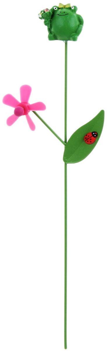 Украшение декоративное садовое Лягушка, цвет: зеленый, розовый, 7 х 27 см1262121Летом практически каждая семья стремится проводить больше времени за городом. Прекрасный выбор для комфортного отдыха и эффективного труда на даче, который будет радовать вас достойным качеством.