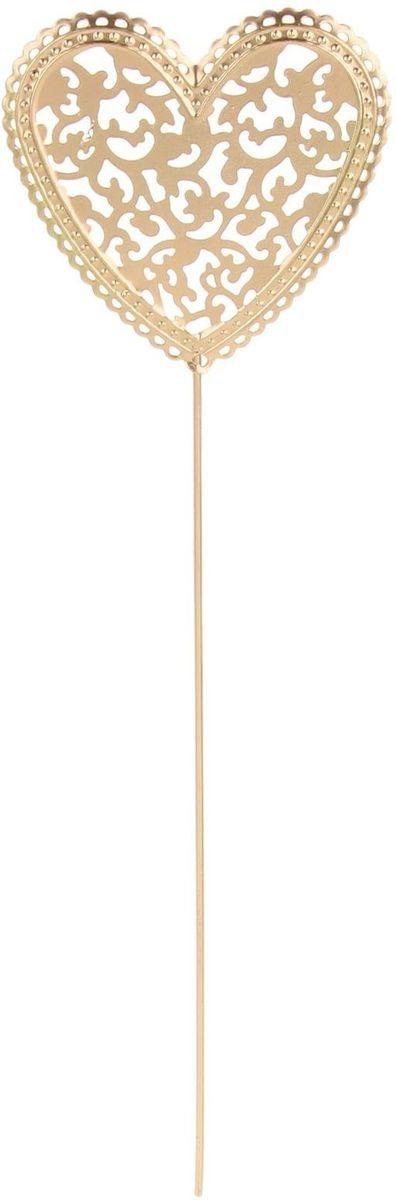 Украшение декоративное садовое Сердце, цвет: кремовый, 9 х 31 см1262129Декоративное садовое украшение Сердце, изготовлено из металла и представляет собой палочку с фигуркой сердца наверху. Декоративная садовая фигурка внесет завершающий штрих при создании ландшафтного дизайна дачного или приусадебного участка. Она позволит создать правдоподобную декорацию и почувствовать себя среди живой природы. Кроме этого, веселая и незатейливая, она поднимет настроение вам, вашим друзьям и родным. Размер: 9 х 31 см.