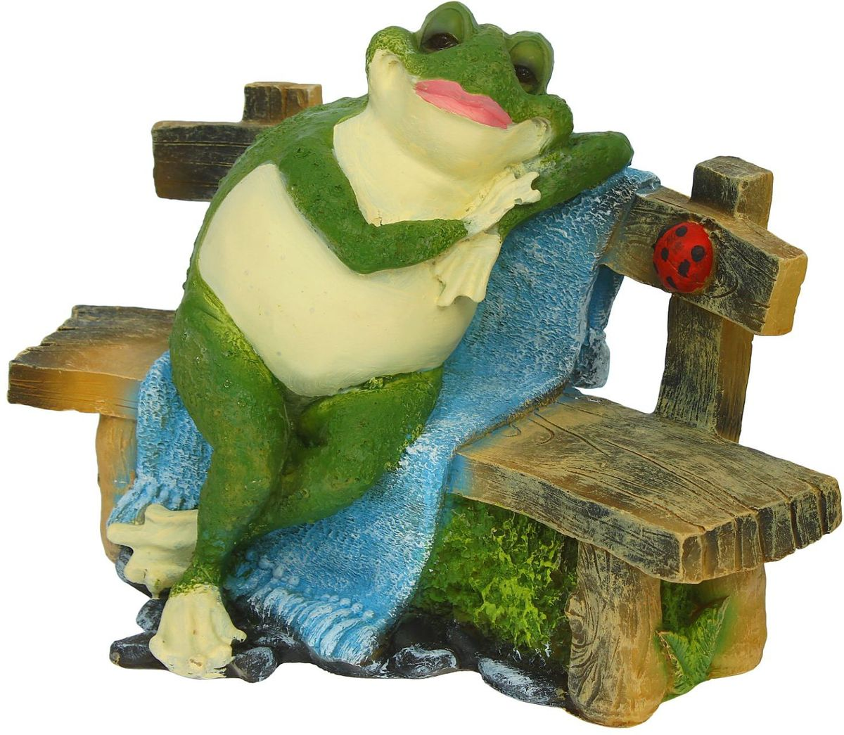 Фигура садовая Сидящая лягушка на лавочке, 23 х 38 х 27 см1360693