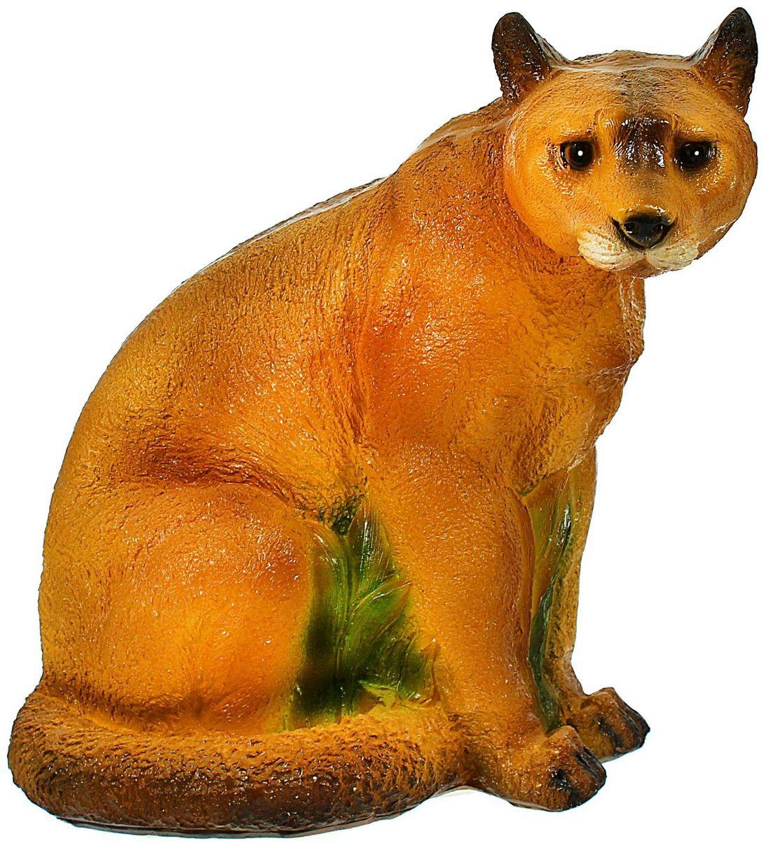 Фигура садовая Камышовый кот, 21 х 40 х 39 см1406912Садовая фигура Камышовый кот будет охранять урожай и приносить удачу. Удивите гостей и порадуйте близких - поселите у себя на дачном участке веселого жильца.Садовая фигура изготовлена из гипса.Размер фигуры: 21 х 40 х 39 см.