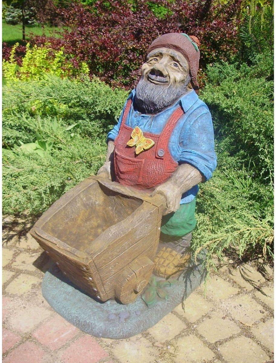 Фигура садовая Садовник, 50 х 40 х 60 см1608265Яркая и оригинальная садовая фигура создаст сказочную атмосферу на вашем приусадебном участке! Изделие отличает реалистичность и высокое качество исполнения. изготовлена из армированного стеклопластика — одного из самых лёгких, прочных, долговечных и доступных материалов. Ему не страшны удары, вода, снег, жара, холод, солнечные лучи и прочие экстремальные погодные условия!Позаботьтесь об экстерьере дачного участка, закажите красивую и прочную садовую фигуру!