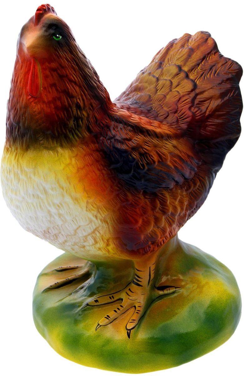 Фигура садовая Курица, 25 х 21 х 32 см1996256Садовая фигура Курица будет охранять урожай и приносить удачу. Удивите гостей и порадуйте близких - поселите у себя на дачном участке веселого жильца.Садовая фигура изготовлена из керамики.Размер фигуры: 25 х 21 х 32 см.