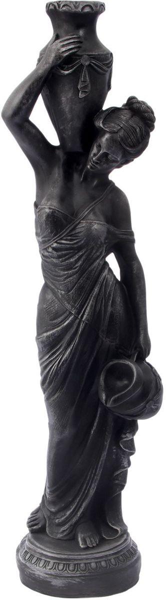 Фигура садовая Девушка с кувшином, цвет: графит, 37 х 33 х 127 см2265037
