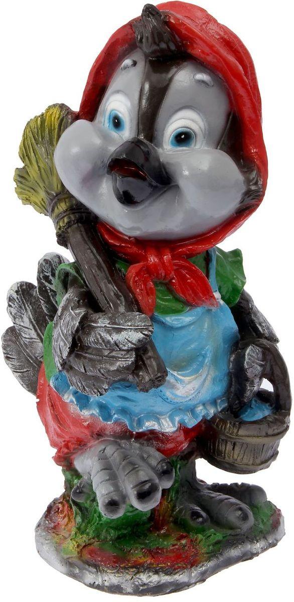 Фигура садовая Фабрика Эталон Воробей с метлой, 27 х 31 х 53 см2311174Полистоун представляет собой искусственный камень, сочетающий лучшие качества природных материалов. Благодаря однородности трещины у него внутри не появляются. Изделия из полистоуна отличаются: Повышенной прочностью и износостойкостью. Невосприимчивостью к воздействию влаги, ультрафиолетовых лучей. Тщательной проработкой деталей фигурок и изящностью форм. Лёгкостью, которая позволяет перемещать предметы, чтобы обновить композицию сада. Безопасностью для здоровья человека и окружающей среды. Фигура из полистоуна придаст участку живой и неповторимый вид, станет отличным подарком к празднику, удачно впишется в любой сад и подчеркнёт индивидуальность владельца загородного дома. Уход за такими изделиями очень прост:достаточно протирать их влажной тряпочкой.