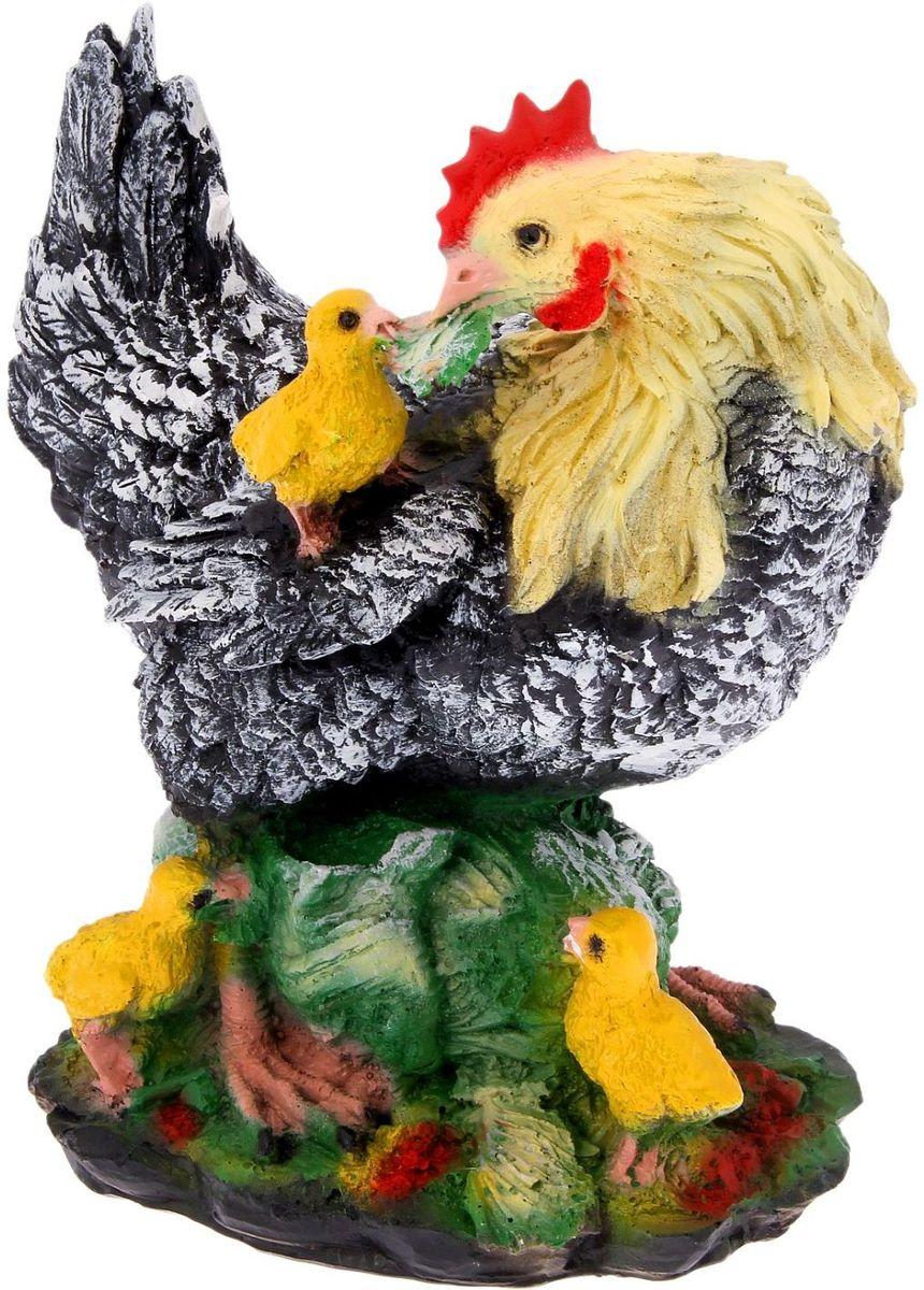 Фигура садовая Фабрика Эталон Курица на капусте, 16 х 27 х 30 см