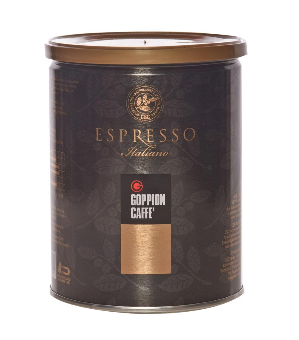 Goppion Caffe Espresso Italiano CSC кофе молотый, 250 г блюз эспрессо форте кофе молотый в капсулах 55 г