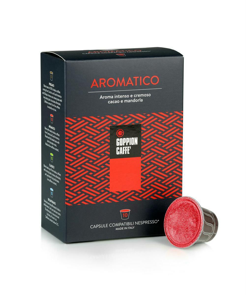 Goppion Caffe Aromatico, кофе в капсулах, 10 шт кофе в капсулах tassimo карт нуар кафе лонг интенс 128г