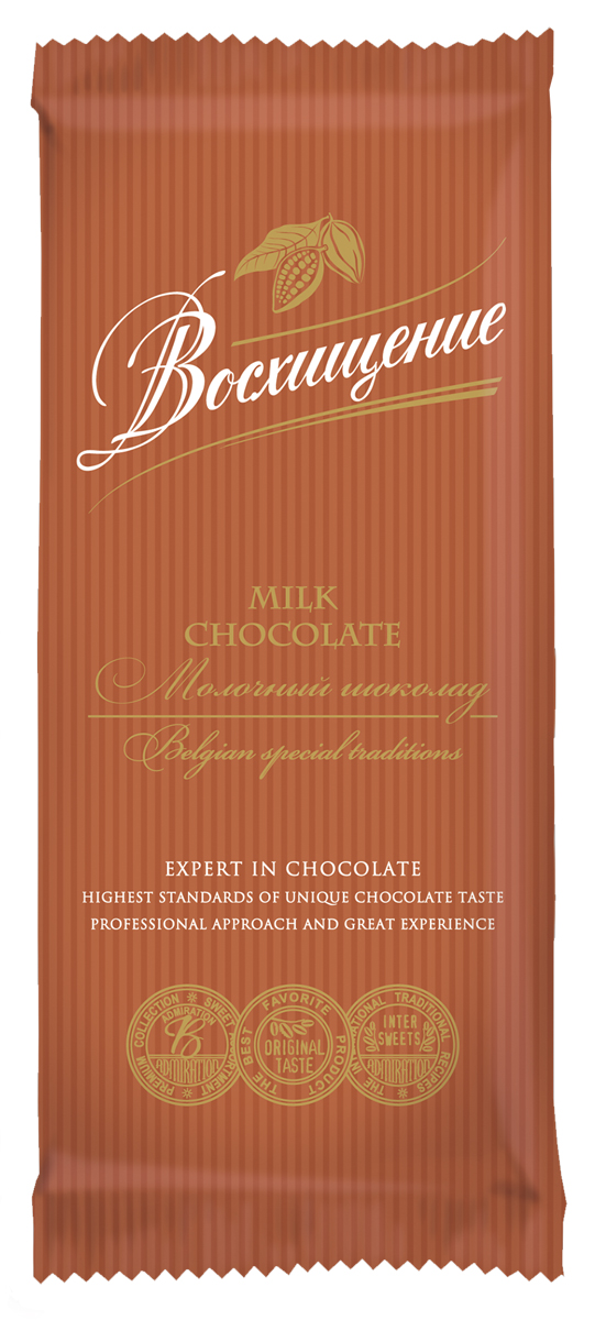 Волшебница Восхищение шоколад молочный, 90 г1.7732Шоколад Восхищение позволяет получить максимальное удовольствие. Каждый ломтик обещает удобство дегустации и позволяет сохранить вкус шоколада надолго.