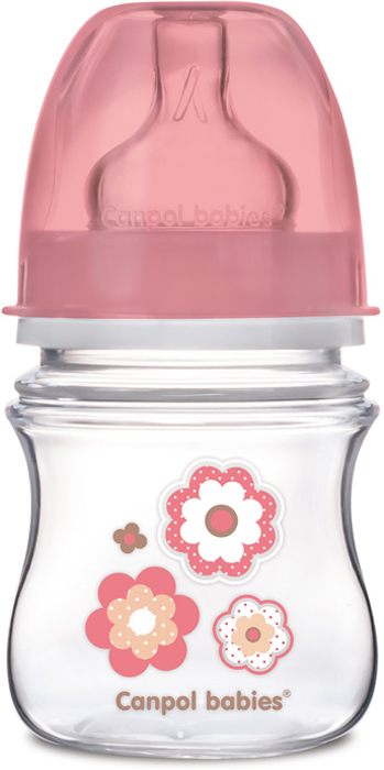 Canpol Babies Бутылочка антиколиковая EasyStart от 0 месяцев цвет розовый 120 мл babies стульчик для кормления h 1 babies panda