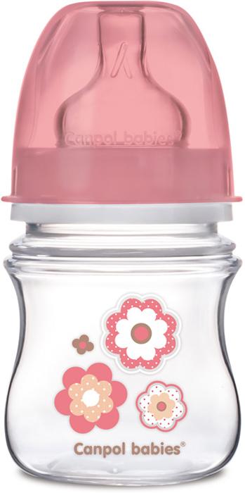 Canpol Babies Бутылочка антиколиковая EasyStart от 0 месяцев цвет розовый 120 мл