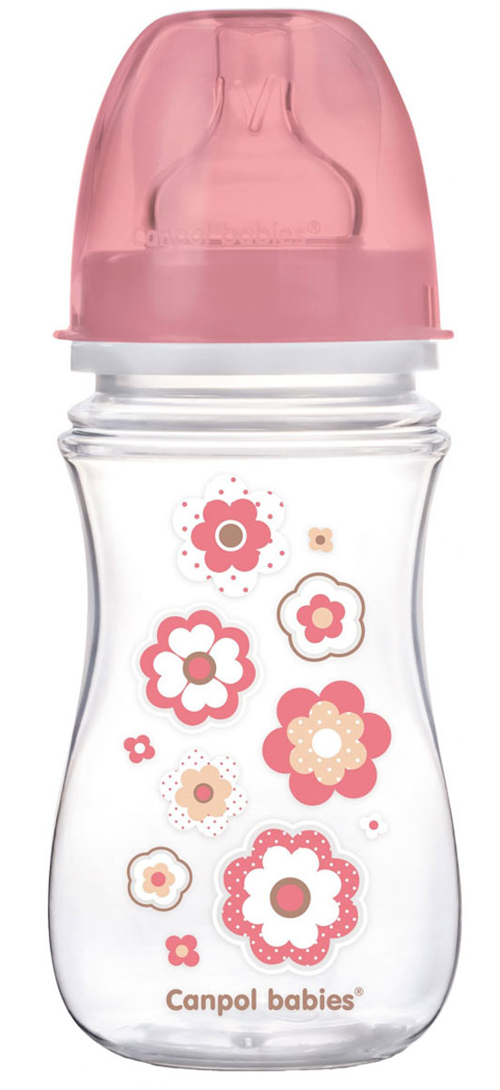 Canpol Babies Бутылочка антиколиковая EasyStart от 3 месяцев цвет розовый 240 мл babies стульчик для кормления h 1 babies panda