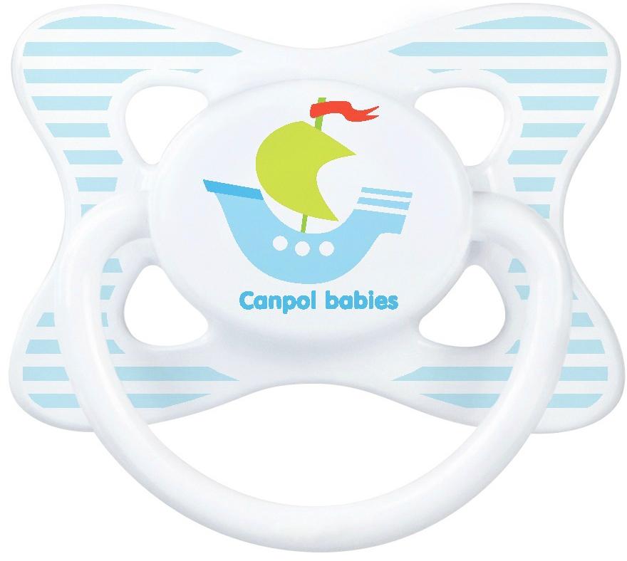 Canpol Babies Пустышка силиконовая Кораблик от 0 до 6 месяцев canpol babies силиконовая зубная щетка от 6 мес canpol babies в ассорт