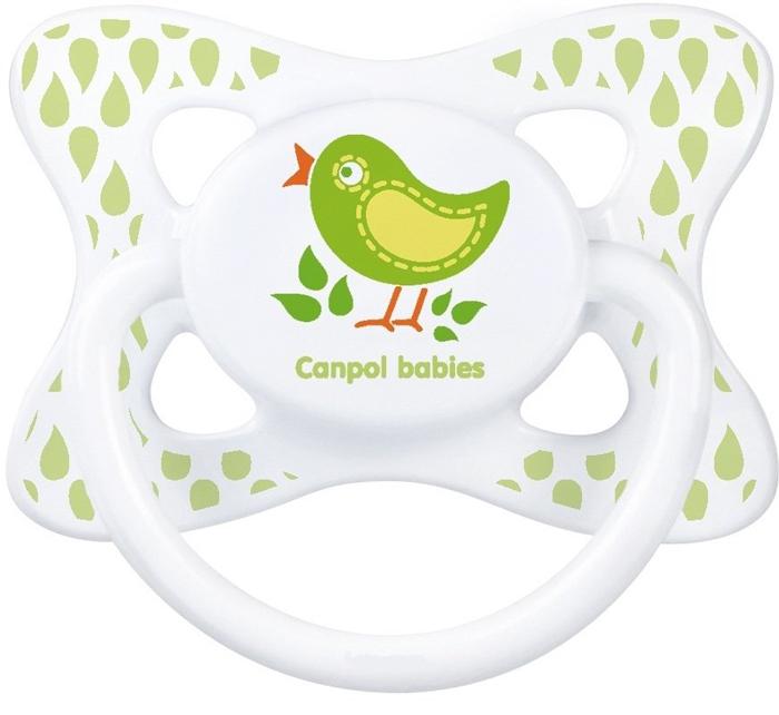 Canpol Babies Пустышка силиконовая симметричная Птичка от 18 месяцев canpol babies пустышка силиконовая кораблик от 18 месяцев